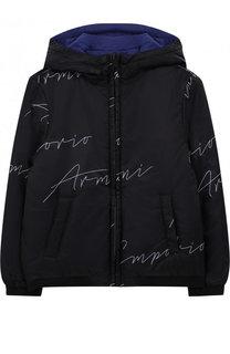Куртка на молнии с капюшоном Emporio Armani