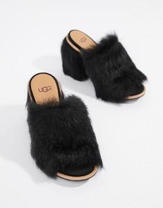 Черные мюли на каблуке UGG Rosa - Черный