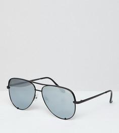 39d5c871635f Солнцезащитные очки-авиаторы в черной оправе и бесплатный чехол для солнцезащитных  очков Quay Australia x