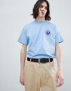 Carhartt WIP globe print t-shirt in heaven blue - Синий