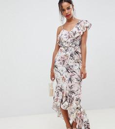 Платье макси с цветочным принтом ASOS DESIGN Petite - Мульти