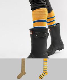 Набор из 2 пар фестивальных носков под резиновые сапоги в полоску ASOS DESIGN - Мульти