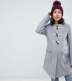 Классический дафлкот с карманами ASOS DESIGN Maternity - Серый