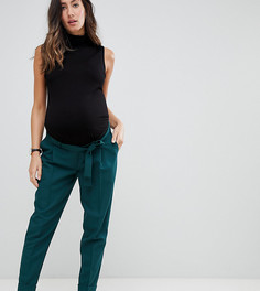 Брюки-галифе с поясом оби ASOS DESIGN Maternity - Зеленый