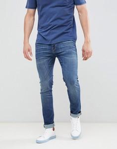 Selected Slim Fit Mid Blue Jeans - Синий
