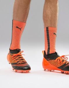Оранжевые футбольные бутсы Puma Future 2.3 Netfit Firm Ground 104832-02 - Оранжевый