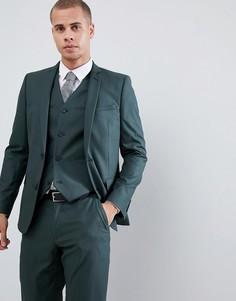 Зеленый облегающий пиджак ASOS DESIGN - Зеленый