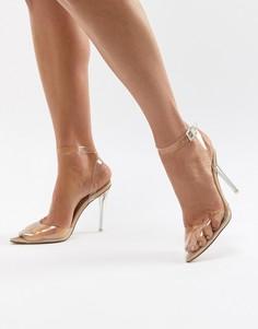 Туфли-лодочки с острым носком Missguided - Бежевый