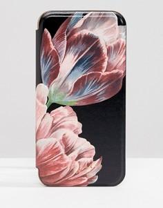 Чехол для iРhone 8 с зеркальцем и цветочным принтом Ted Baker - Черный