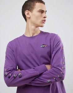 Фиолетовый лонгслив Billabong Heritage - Фиолетовый