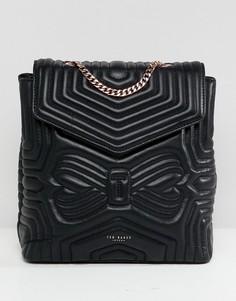 Кожаный стеганый рюкзак с бантиком Ted Baker - Черный