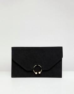 Клатч с искусственным жемчугом ASOS DESIGN - Черный