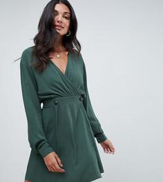 Повседневное платье мини с запахом ASOS DESIGN Tall - Зеленый