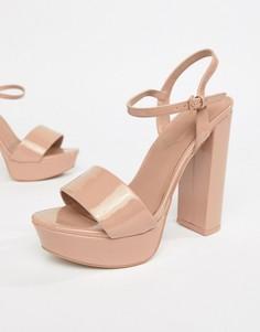 Босоножки на каблуке и платформе Aldo - Розовый