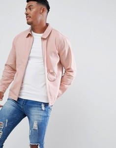 Розовая куртка с кольцом boohooMAN - Розовый