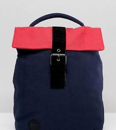 Сине-розовый мини-рюкзак в стиле колор блок с отворачивающимся верхом Mi Pac - Темно-синий