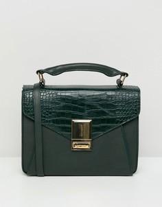 Сумка сэтчел с накладным карманом ASOS DESIGN - Зеленый