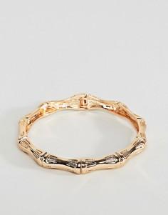 Золотистый браслет с фактурной отделкой в винтажном стиле ASOS DESIGN - Золотой
