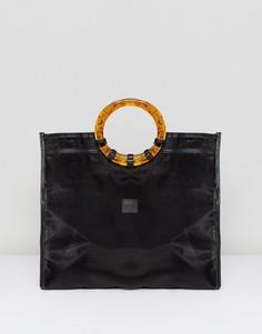 Сумка-шоппер из органзы ASOS DESIGN - Черный