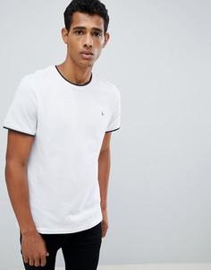 Белая футболка с контрастной отделкой Jack Wills Baildon - Белый