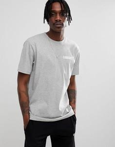 Серая футболка с принтом Carhartt WIP College - Серый