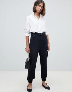 Черные джинсовые спортивные штаны ASOS DESIGN - Черный