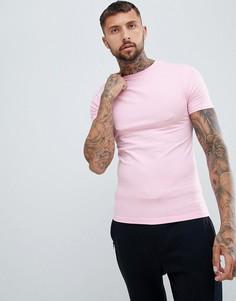 Розовая облегающая футболка River Island - Розовый