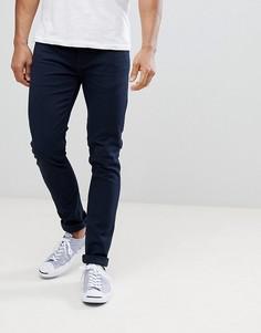 Темно-синие джинсы узкого кроя из саржи Farah Drake - Темно-синий