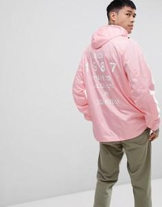 Светло-розовая куртка с принтом на спине Napapijri Aumo - Розовый