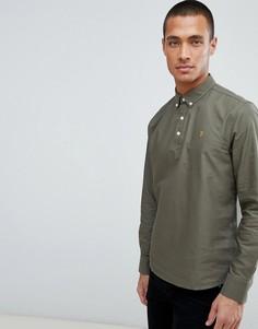 Зеленая рубашка без застежки Farah Brewer - Зеленый