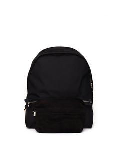 Черный рюкзак из нейлона и замши Hender Scheme