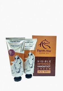 Набор для ухода за телом Farm Stay питательный крем для рук и питательный крем для ног, 100+100 гр