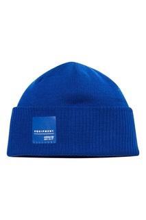 Синяя шапка с нашивкой Adidas