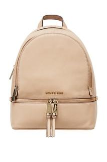 Бежевый рюкзак Rhea Zip Michael Kors