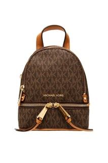 Коричневый рюкзак Rhea Zip с монограммами Michael Kors