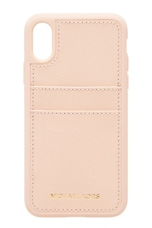 Розовый чехол для iPhone X Michael Kors
