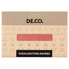 Салфетки-хайлайтер для лица DE.CO. pink peach 30 шт Deco