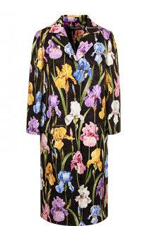 Пальто с укороченным рукавом и принтом Dolce & Gabbana