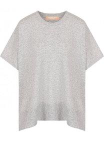 Кашемировый пуловер свободного кроя с укороченным рукавом Michael Kors Collection