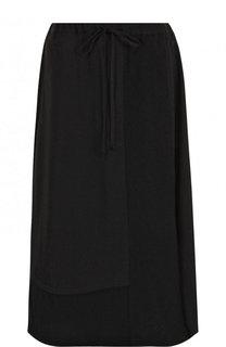 Шерстяная юбка-миди с эластичным поясом Yohji Yamamoto