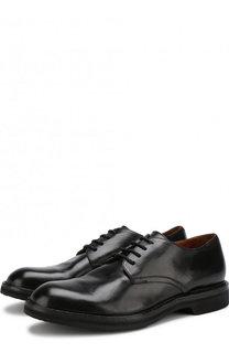 Кожаные дерби на шнуровке Pantanetti