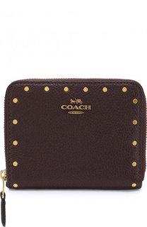 Кожаный кошелек на молнии Coach