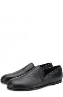 Классические кожаные слиперы Amalfi Dolce & Gabbana