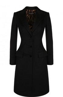 Приталенное шерстяное пальто Dolce & Gabbana
