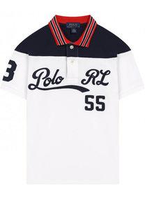 Хлопковое поло с контрастной отделкой Polo Ralph Lauren
