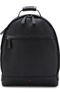 Кожаный рюкзак с внешним карманом Santoni