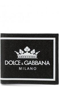 Кожаное портмоне с принтом и отделениями для кредитных карт Dolce & Gabbana