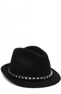 Фетровая шляпа Valentino Garavani Rockstud Valentino