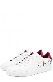 Кожаные кеды Urban Street на шнуровке Givenchy