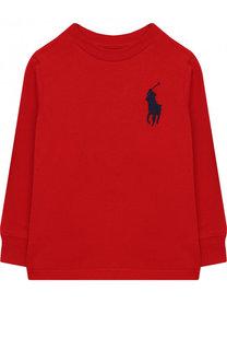 Хлопковый лонгслив с нашивкой Polo Ralph Lauren